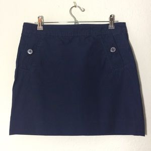 Lilly Pulitzer Navy Blue Skirt Pink Label SZ 6.